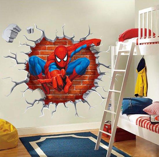 Spiderman muursticker voor in de slaapkamer